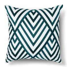 """Sabrina Soto™ Corazon Embroidered Square Pillow - 18""""x18"""" - Teal"""