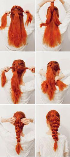 Hair: Easy Pull-Through Braid