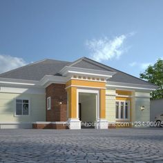 contemporary nigerian residential architecture 3 bedroom bungalow rh pinterest com