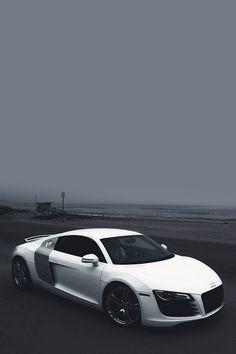 White and grey Audi Maserati, Ferrari, Bugatti, Audi Sports Car, Audi Cars, Cars Auto, My Dream Car, Dream Cars, Royce