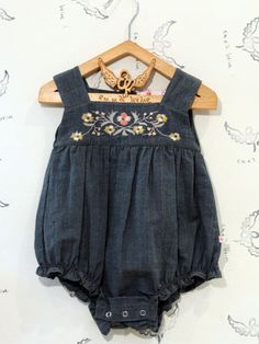 emma levine ~ japan floral romper >> Adorable! Miss Wiggles would look so cute in this little number! #babyclothesgirl