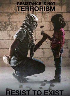 Resistir a quien se robo toda tu tierra y mata a tus hijos es terrorismo?  Esas son las ideas que el sionismo habilmente pone en la mente del populacho inculto que ha creido sus malditas mentiras