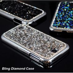 Fundas For Samsung Galaxy S4 i9500 Phone Case Bling Rhinestone Diamond Glitter Hard Back Cover For Samsung Galaxy S4 Case Capa