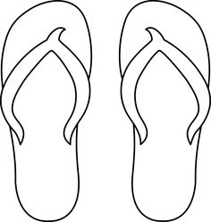 Colorable Flip Flops - for gr 5: one shoe for elem. school; the other one for middle school
