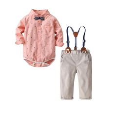 MORCHAN Baby Romper Boy Jumpsuit Outfits Cotton Toddler Boy Long Sleeve Dinosaur Printed Bodysuits Climbing Suit Clothes 0-24 Months 2-4 Years