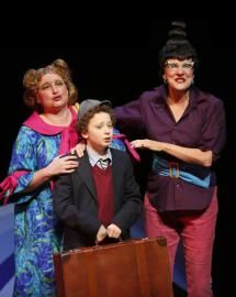 Deb Williams, Julian Lokash and Patti Allan. Photo by Tim Matheson.  From James and the Giant Peach by Carousel Theatre