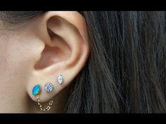 DIY: chain back earring.