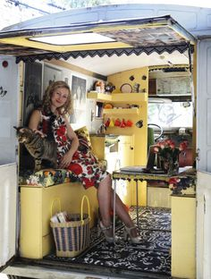 A vintage Citroën H van gives Emily Chalmers, stylist and owner of the delightfully quirky London interiors shop Caravan, the freedom of the road when on buying trips or escaping the rat race with husband Chris at weekends.