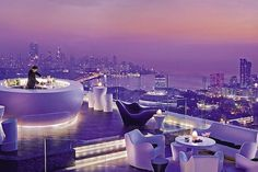 What an amazing bar... Aer, 34th Floor Lounge at the Four Seasons, Mumbai.