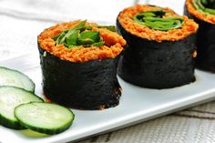 Raw carrot rolls -- YUM! can't wait to start eating again!