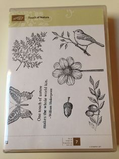 Touch of Nature Stampin Up Wood-Mounted Rubber Stamp Set of 7 #StampinUp