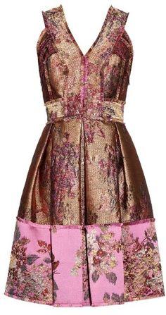 ERDEM Fabienne floral-jacquard dress