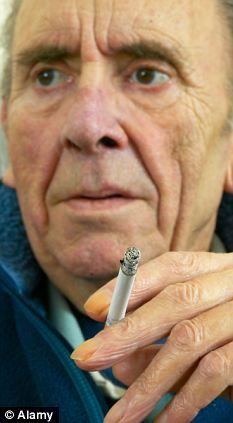 """GOOD NEWS - BUT QUIT SMOKING ANYWAY... """"A life-saving blood test that predicts lung cancer up to five years before symptoms emerge is to be trialled on thousands of smokers by the (UK's) NHS."""" (image borrowed with thanks from the UK Daily Mail and http://www.alamy.com/) #cancer"""