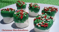 Christmas in July: 31 Days of Christmas Crafts, Recipes, DIY & More - Gourmet Christmas Marshmallows