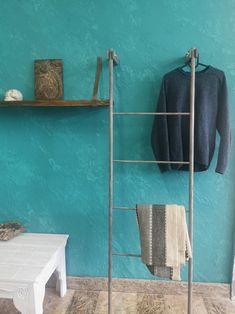 Ladder Hanger, Clothes Hanger, Towel, Ladders, Modern, Etsy, Furniture, Coat Hanger, Stairs