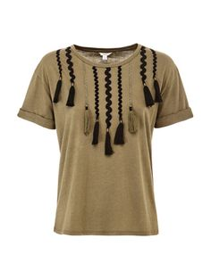 T-SHIRT WITH FRINGES | GUESS.eu