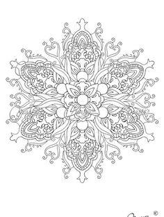 Masja's Mandala Hand-drawn Coloring Page 5 by MasjasArtwork
