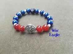 Men's Bracelet Auburn Football Bracelet War Eagle Auburn Tigers Men's Jewelry Football Sports Jewelry Custom Bracelet Gifts for Him Tribal