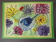 A Pretty Talent Blog: Cardmaking: Watercolours & Ink - Free-Flow Flowers Fabric Butterfly, Flower Shape, Watercolor And Ink, Watercolours, Cardmaking, Card Stock, Arts And Crafts, Shapes, Crafty