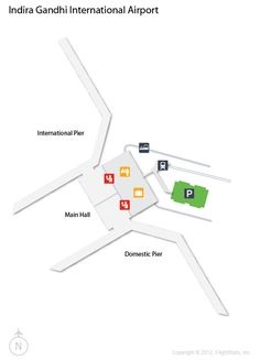 (ORD) O'Hare International Airport Terminal Map- American