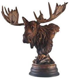 Moose Bust Sculpture