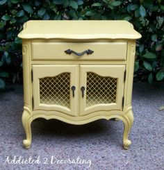 Addicted 2 Decorating » Bailey's Bedside Table:: Before & After
