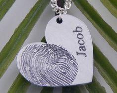20% OFF Actual Fingerprint Bar Necklace by GracePersonalized