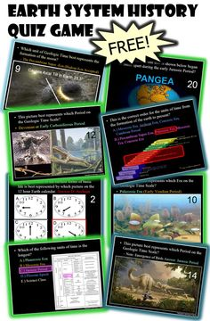 Timeline of Earth Events Quiz Game Free Teaching Resources, Science Resources, Science Lessons, Teaching Ideas, Science Inquiry, Science Activities, Science Experiments, Teacher Resources, Dinosaur History