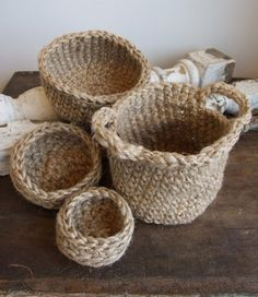 Crocheted Baskets and Bowls