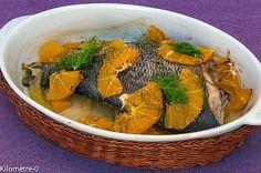 Daurade au four à l'orange et au fenouil