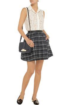 Alice + Olivia Keira tweed mini skirt