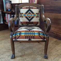Western Furniture Western Bedding Western Decor & Rustic Home Finds Western Furniture, Rustic Furniture, Painted Furniture, Diy Furniture, Cabin Furniture, Furniture Design, Southwestern Decorating, Southwest Decor, Southwestern Chairs