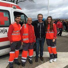 Voluntarias/os de #CruzRoja #MargenIzquierda cubriendo #Regatas de #Bateles en #Sestao. #PreventivosCruzRoja