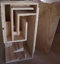 Inside View Fostex FE206En Back-Loaded Horn Speaker Cabinet