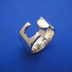 Silver Puzzle Jigsaw Ring , Hand Made Solid Silver. $85.00, via Etsy.