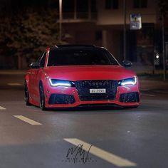 Audi _ [ Photo via ] Audi Rs7, Audi Quattro, Audi Autos, Muscle Cars, Red Audi, Audi A5 Coupe, M Benz, Top Cars, Jackson