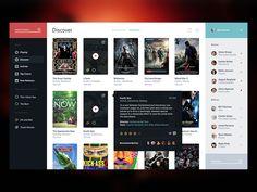 Movie Service UI by Victor Erixon