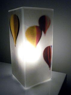 Glass Polaroid Hot Air Balloon Photo Table Lamp - Flying Free - Unique Housewarming Gift, Home Nursery Decor, Baby Shower. $45.00, via Etsy.