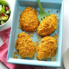 Crumb-Coated Ranch Chicken | How do you get so much flavor out of a five-ingredient-or-fewer recipe? Ranch dressing is the key! Enjoy this simple dish on busy weeknights or with company for special occasions.