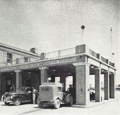 Douglas, Arizona, USA and Agua Prieta Mexico border crossing 1947.