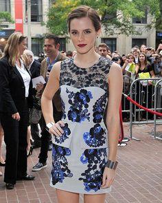 Emma Watson dress with split peplum