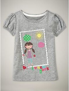Gap City Girl graphic T - New York (also Milan and London)