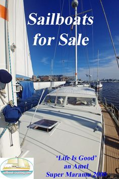 This comprehensively equipped live-aboard cruiser is offered for sale by her owners in Maryland USA. Used Sailboats For Sale, Small Sailboats, Sailing Dinghy, Dinghy Sailboat, Sailboat Cruises, Buy A Boat, Sailboat Listings, Life Is Good, Yachts