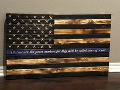 Excited to share this item from my shop: Thin Blue Line American Flag, blueline, thin blue line, leo, police officer wooden flag American Flag Art, Wooden American Flag, Wooden Flag, Police Sign, Police Flag, Leo Police, Police Officer Crafts, Thin Blue Line Flag, Thin Blue Lines