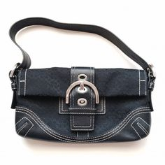 Coach Shoulder Purse Good Condition! Black Shoulder Bag.                       Approx 5 inches by 10 inches Coach Bags