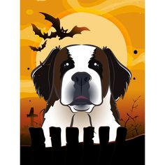 You'll love the Halloween Saint Bernard 2-Sided Garden Flag at Wayfair - Great Deals on all Outdoor  products with Free Shipping on most stuff, even the big stuff.