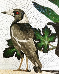 Detail of triptych mosaic in Shoreham, Victoria. Mosaic Artwork, Mirror Mosaic, Mosaic Wall, Mosaic Glass, Glass Art, Mosaic Animals, Mosaic Birds, Mosaic Art Projects, Mosaic Crafts