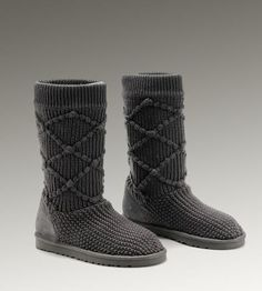 UGG Classic Argly Knit 5879 Boots Grey-$112 <3 <3 <3!!!