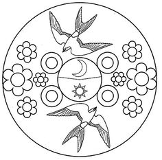 Outline, Crafts, Learning Activities, Mandalas, Spring, Manualidades, Handmade Crafts, Craft, Arts And Crafts