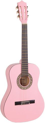FALCON 3/4 SIZE STUDENT CLASSICAL GUITAR  - PINK  Great gift idea